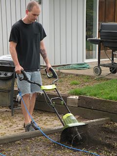 Tilling up the garden