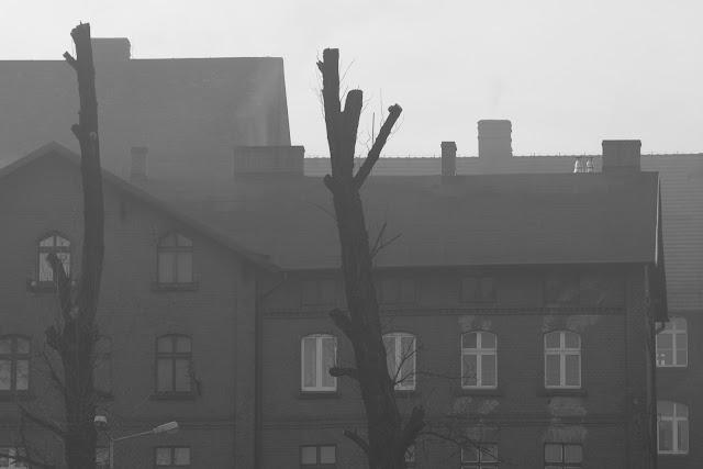 Abstrakcyjna fotografia krajobrazu. Piktorialny obraz miasta. Ruda Slaska. fot. Łukasz Cyrus, Katowice.