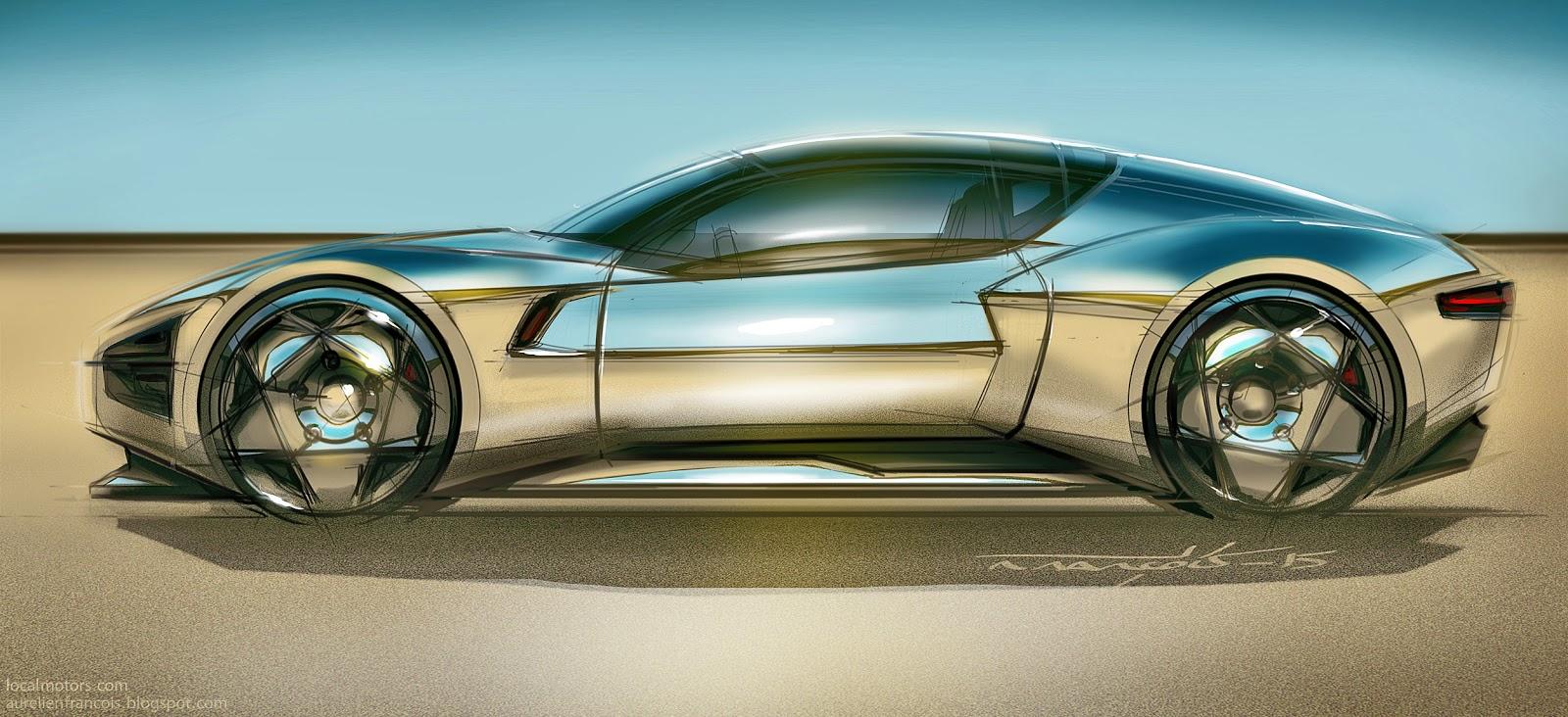 Designs By Aurel Sketchover Tutorial 6 How To Render A Chrome Car