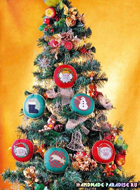 Схемы детской вышивки для новогодних подарков