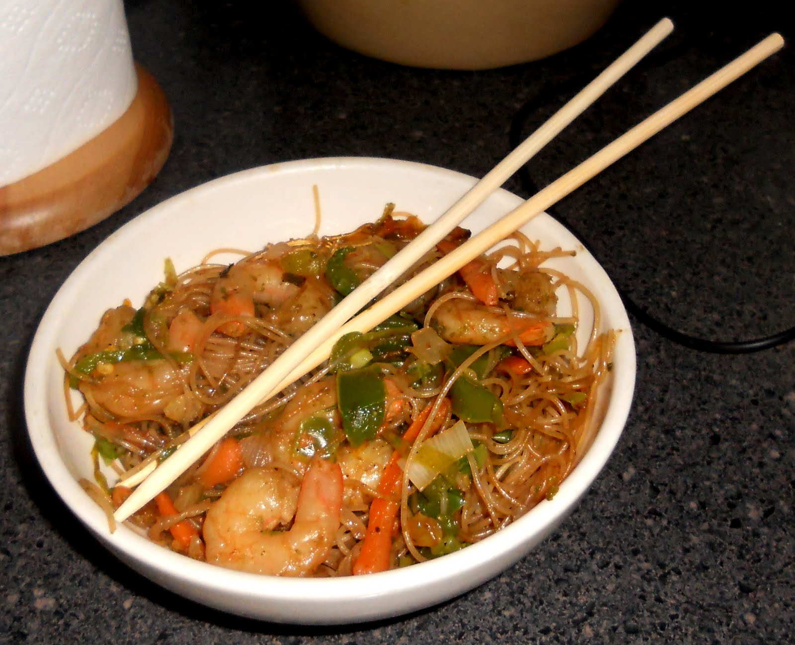 Teriyaki Rice Noodles Recipe — Dishmaps