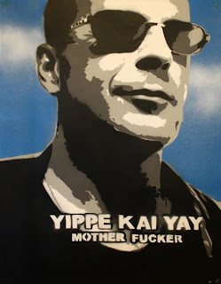 Yippe kai yay mother fucker by John McClane aka Bruce Willis