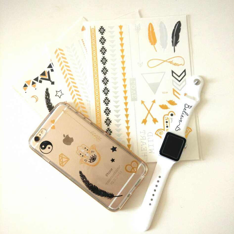 Diy trendy phone case with temporary tattoos for Homemade phone case