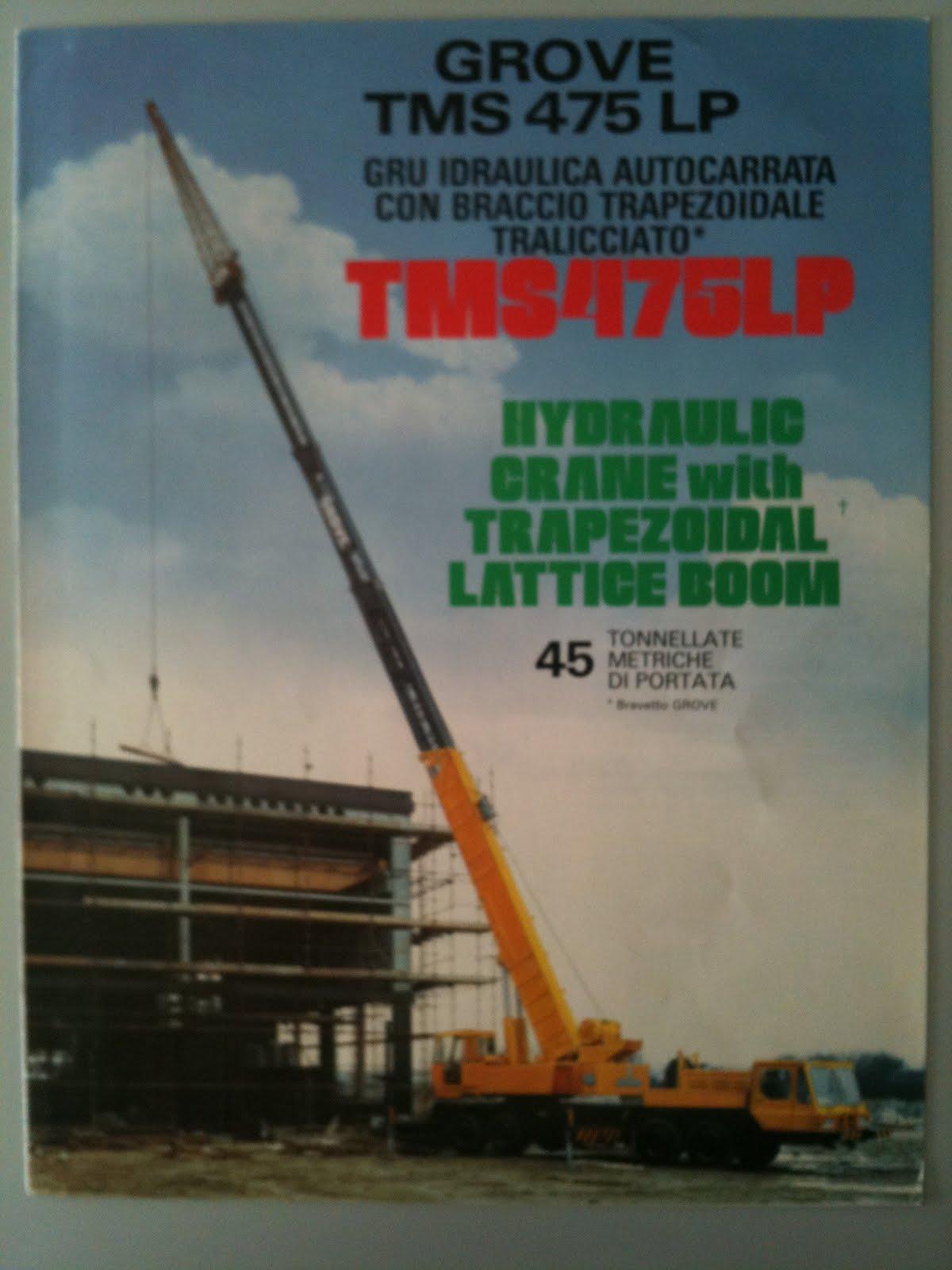 earthmoving machinery sales brochures grove cranes tms 475 lp 636 rh mmtcat blogspot com National Crane Grove Crane Parts Book