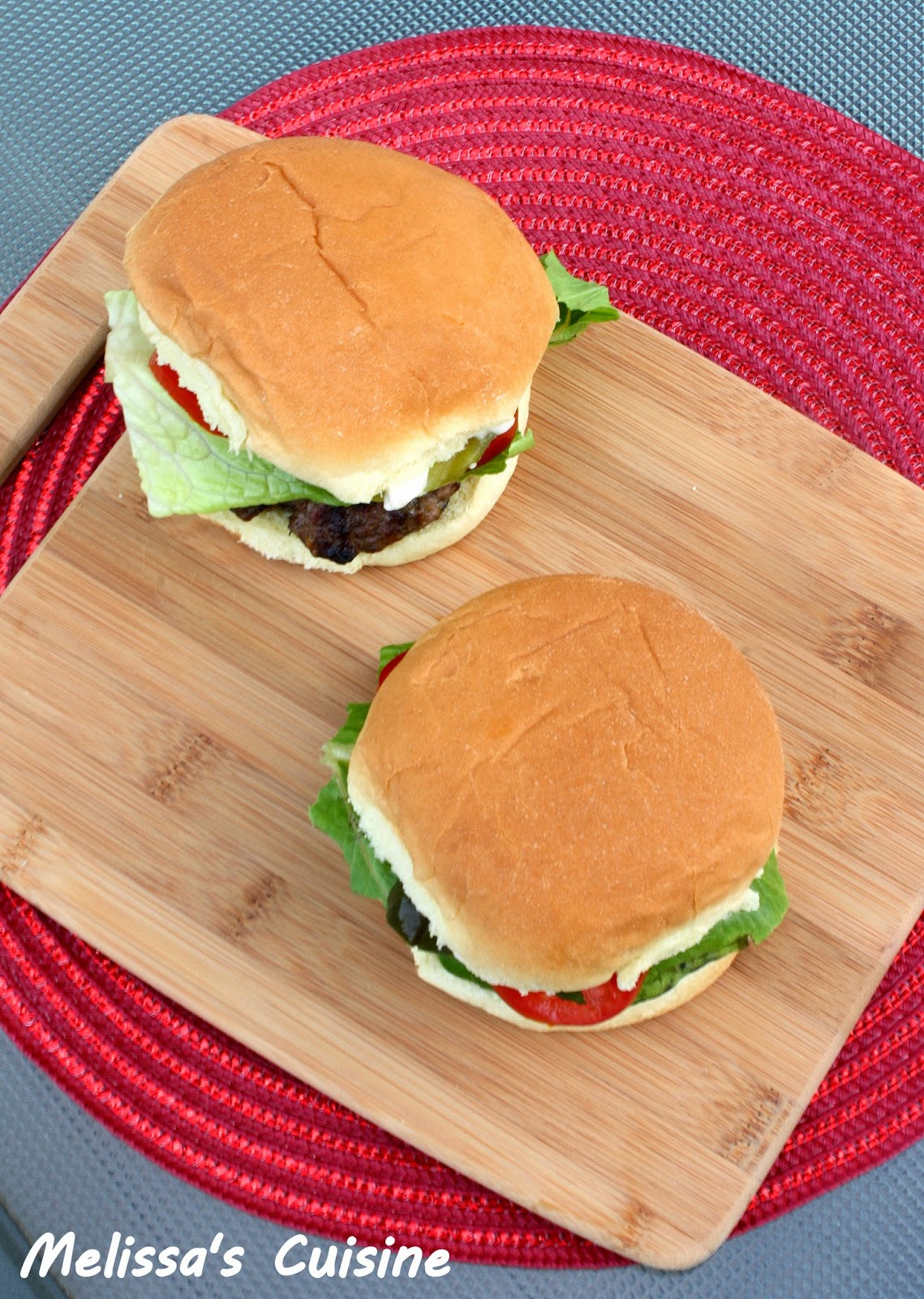 Melissa's Cuisine: Bacon Cheeseburgers {Flashback Friday}