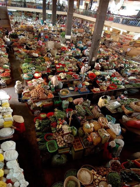Interior del mercado de Da Lat