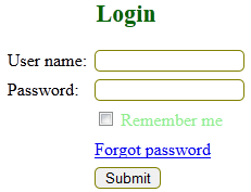 Login form using php