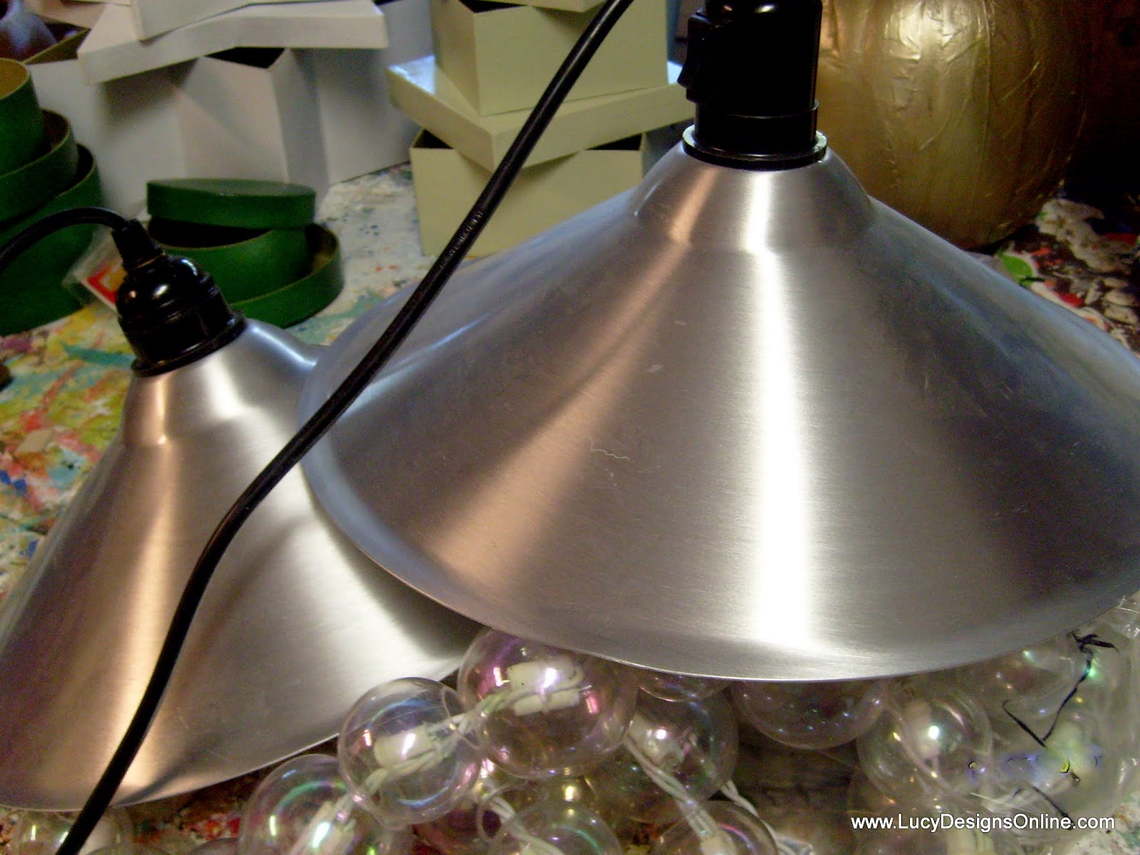pendant light recycled art makeover