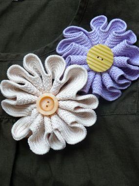 Como fazer uma flor com tecido passo a passo