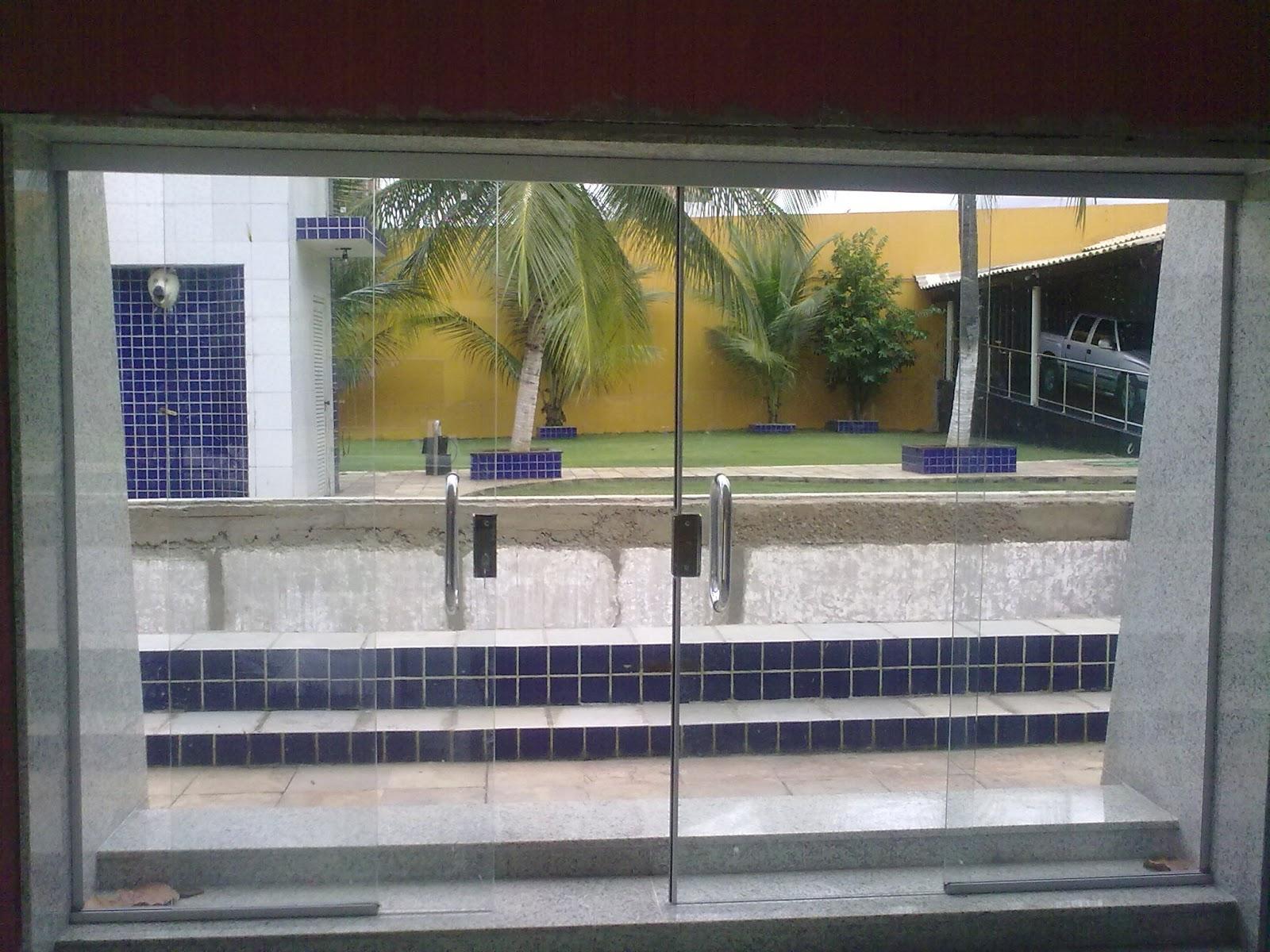 #8C713F PORTA CORREDIÇA 04 FOLHAS EM VIDRO TEMPERADO INCOLOR 384 Janelas De Vidro Valor