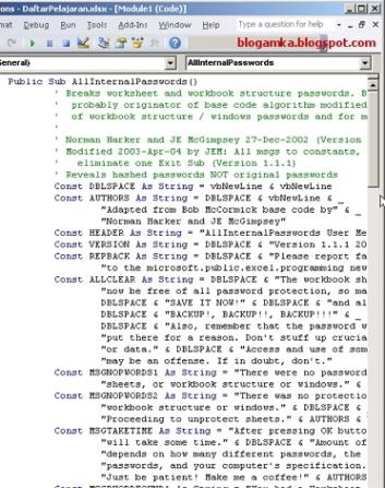 Cara Buka Password Pada Excel 2007 - cara membuka workbook ...