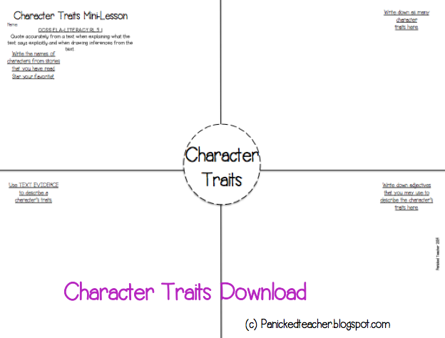5th Grade Character Mini Lesson