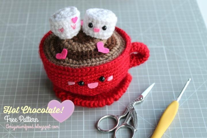 Amigurumi Food San Valentines Day Hot Chocolate Free Pattern