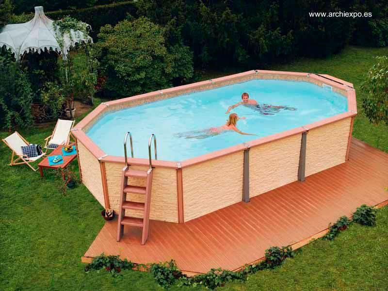 Arquitectura de casas piscinas para casas residenciales for Piscinas sobre suelo