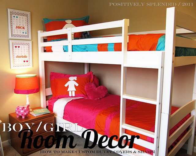 Boy and Girl Room Idea Bunk Beds