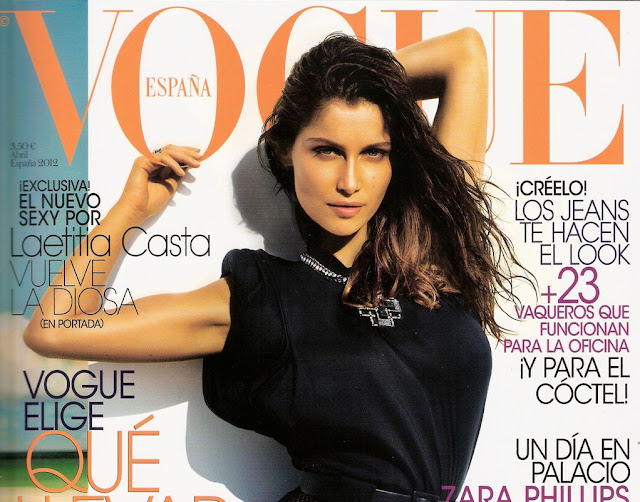Laetitia Casta on the cover of Vogue Magazine-Spain April 2012 Issue