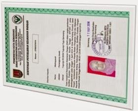 sertifikat PIRT