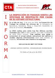 LA INSPECCIÓN DE TRABAJO VISITA LAS OFICINAS DE MONTEALTO POR CAUSA DE SU ESTADO ESTRUCTURAL