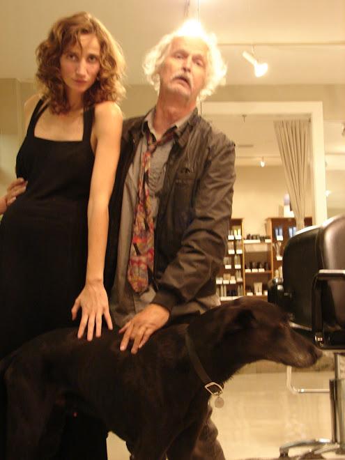 Fillmmaker Sabrina Guitart with Walt Curtis with the spirit animal Fausto.