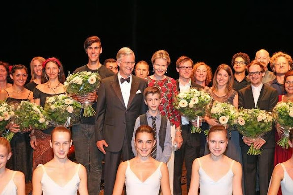 King Philippe and Queen Mathilde attends the 8th gala concert of the King Baudouin foundation organized by the East Flanders committee in Gent