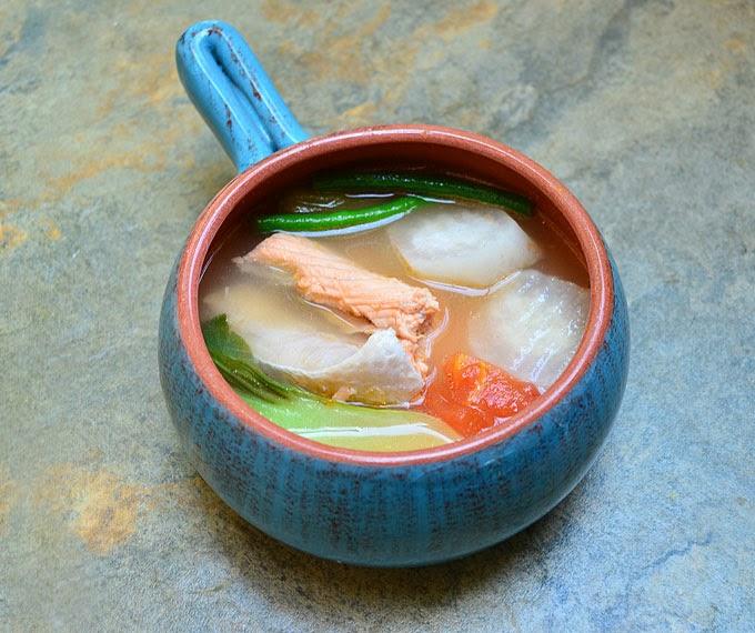 salmon sa miso salmon in filipino sour miso soup salmon miso sinigang ...