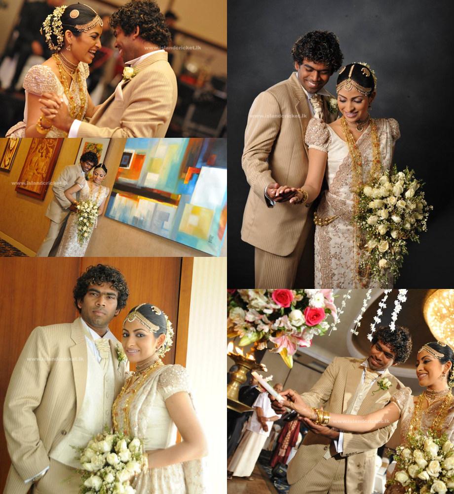 Sri Lanka Fashion Blog Sri Lankan Cricketer Lasith Malings Wedding