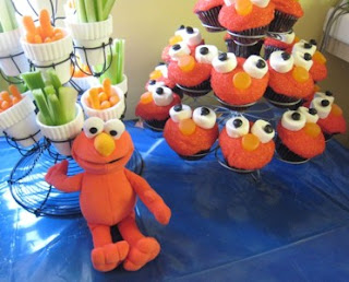 Great Elmo Cupcakes