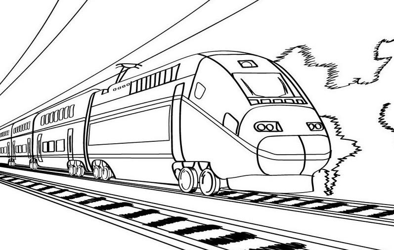 Tren Moderno Dibujo