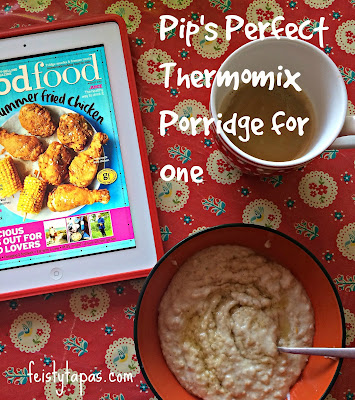 Perfect creamy porridge for one person (or two little ones), enjoy with your favourite magazine on the Readly app
