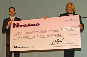 Peter Nygard Supports Breast Cancer research