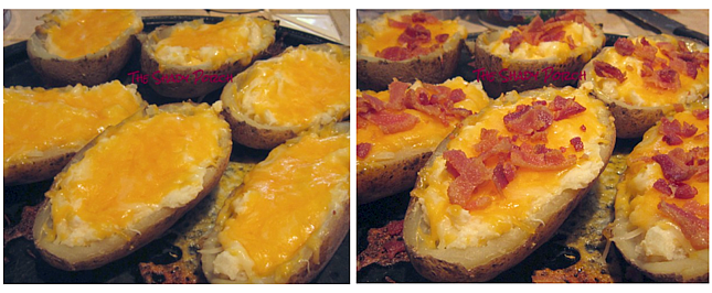 In the process of making Loaded Potato Boats