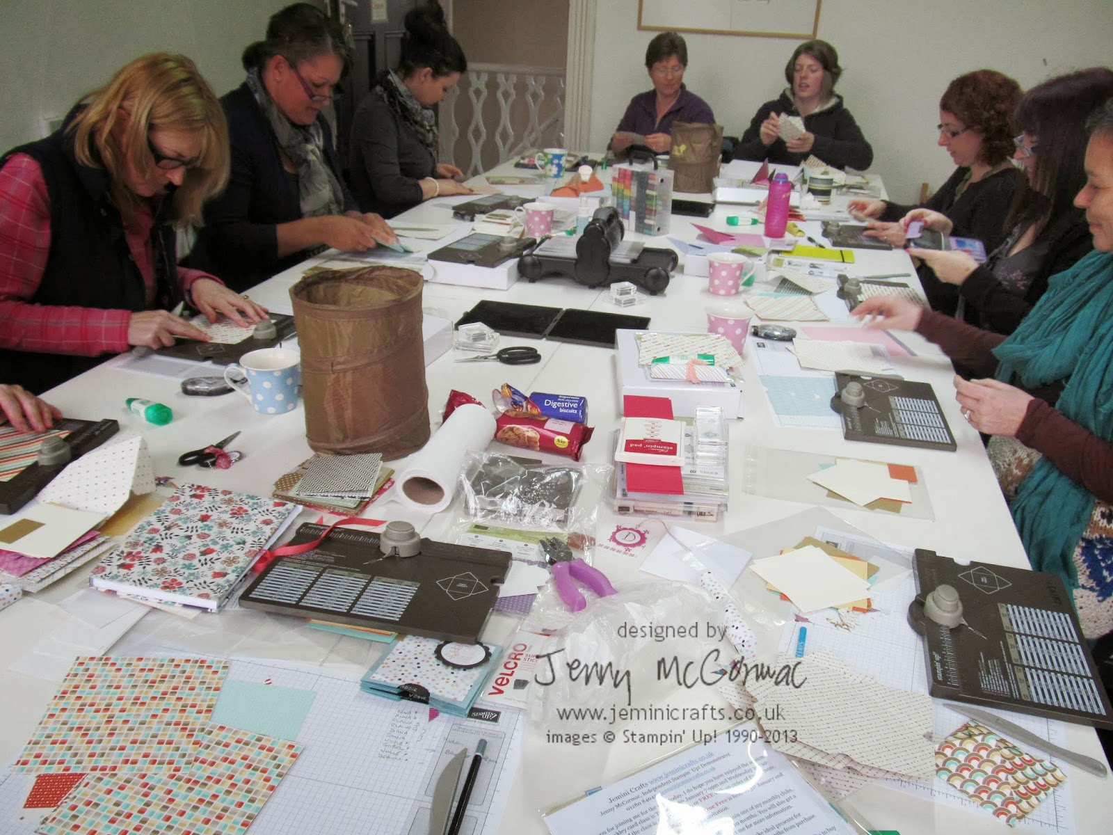 Card Class at Brackley. Stampin' Up! Jemini Crafts