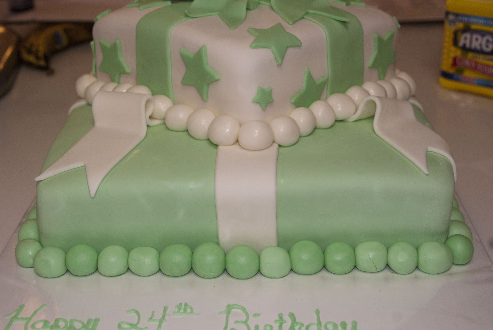 Michelles Cakes Mint green birthday cake