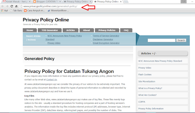 Cara Paling Mudah Membuat Privacy Policy Dan Disclaimer Berbahasa Indonesia