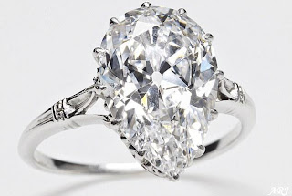 Cullinan IX diamond set into a platinum ring