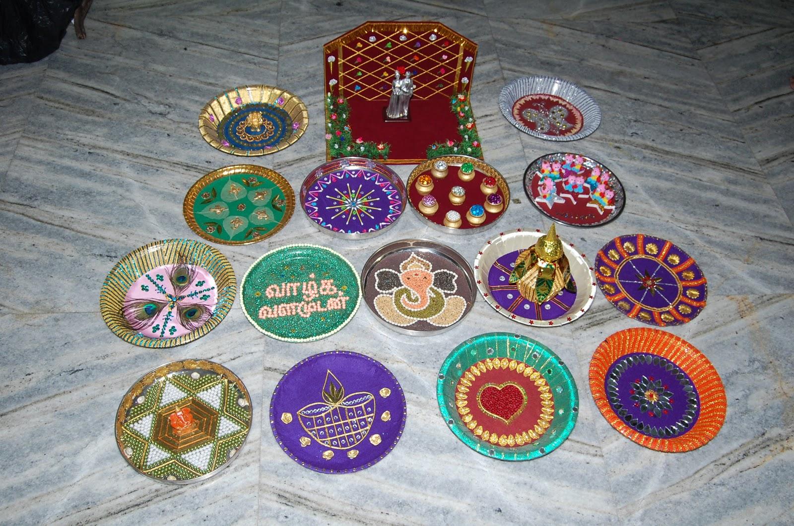 Kalyana arathi plates for Arathi thattu decoration