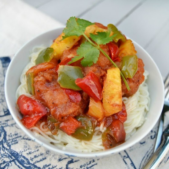 Sweet and Sour Pork ~ Quick, easy and delicious Sweet and Sour Pork which you can have on the dinner table in under 30 minutes ~ kid-friendly too!