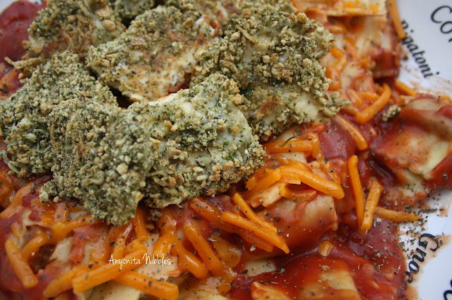 A close up of traditional ravioli and crispy baked ravioli breaded with sour cream and breadcrumbs from www.anyonita-nibbles.com