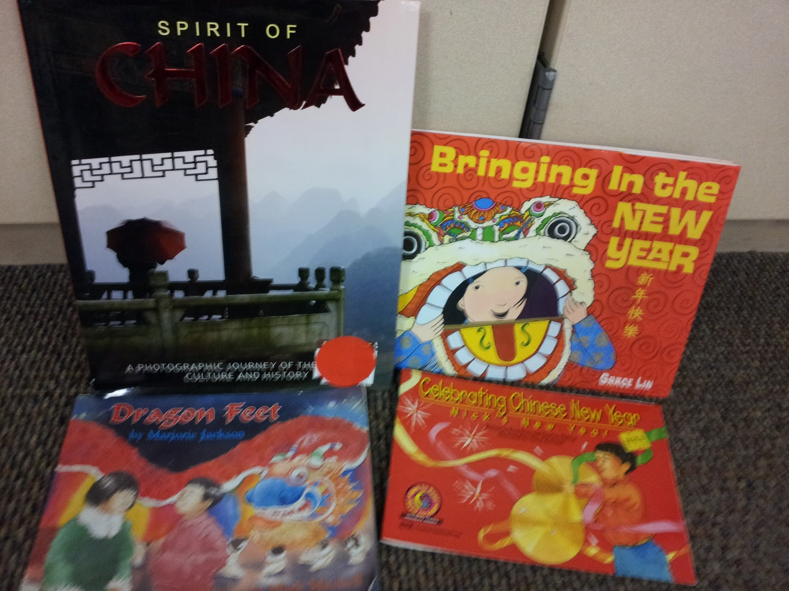 have lots of books in our reading center. The Spirit of China book ...