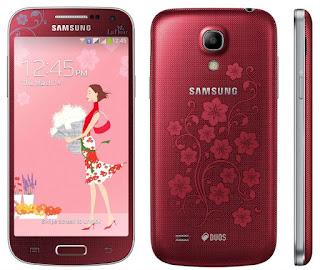 Мобильный телефон Samsung GT-I9190 Galaxy S4 mini La Fleur Red в стильном корпусе и в классическом решении модели