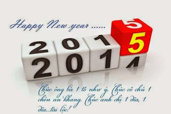 thiệp chúc mừng năm mới 2015
