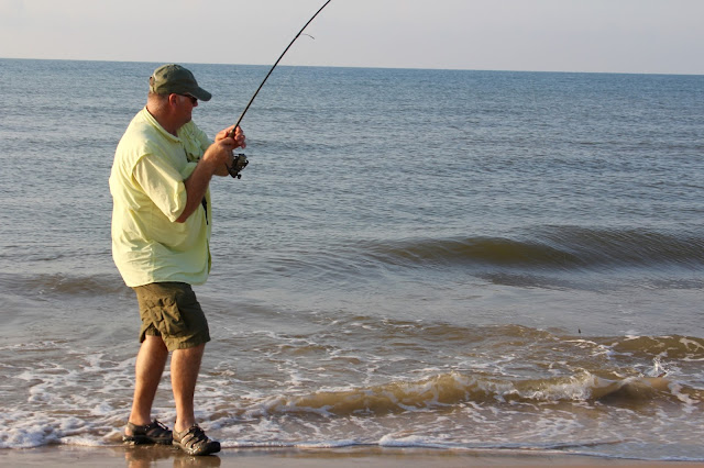 John fishing at Matagorda Beach