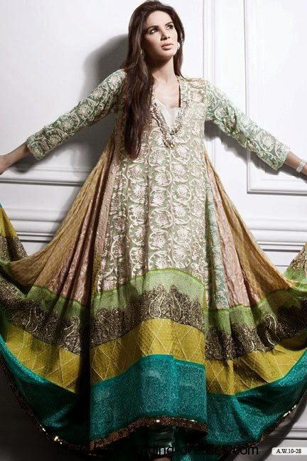 Very gorgeous winter eid dress for modern women.
