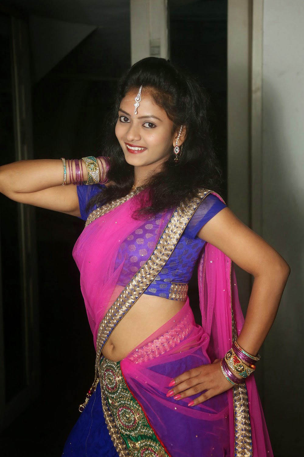 Young actress Jaya Harika in half saree-HQ-Photo-4