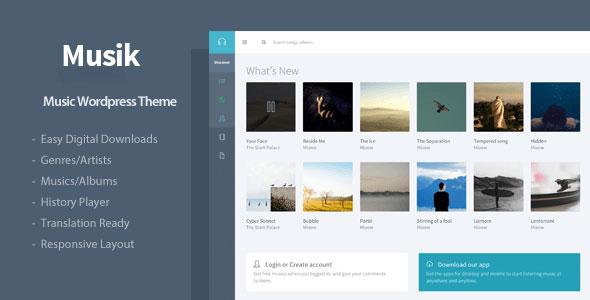 Free Download Musik V1.1 Responsive Music WordPress Theme