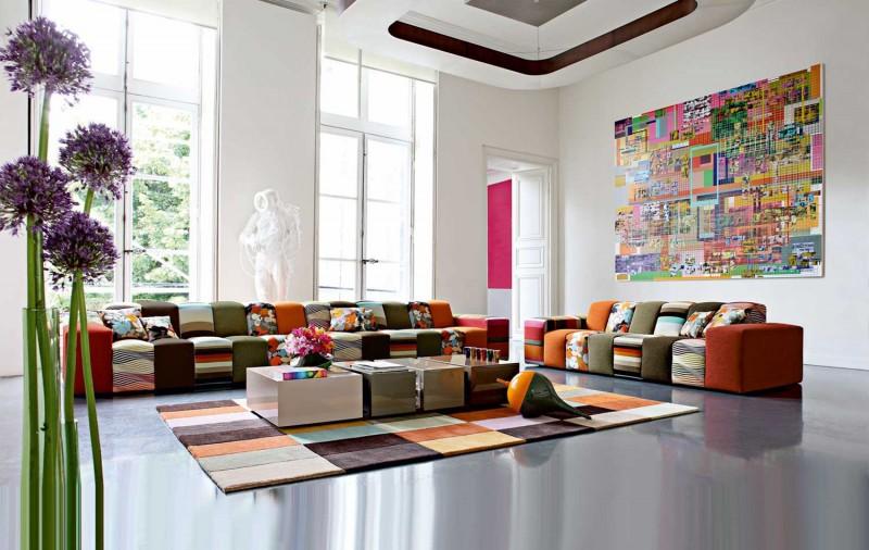 Upholsteri Sofa Moden Dan Kontemporari Keluaran Roche Bobois