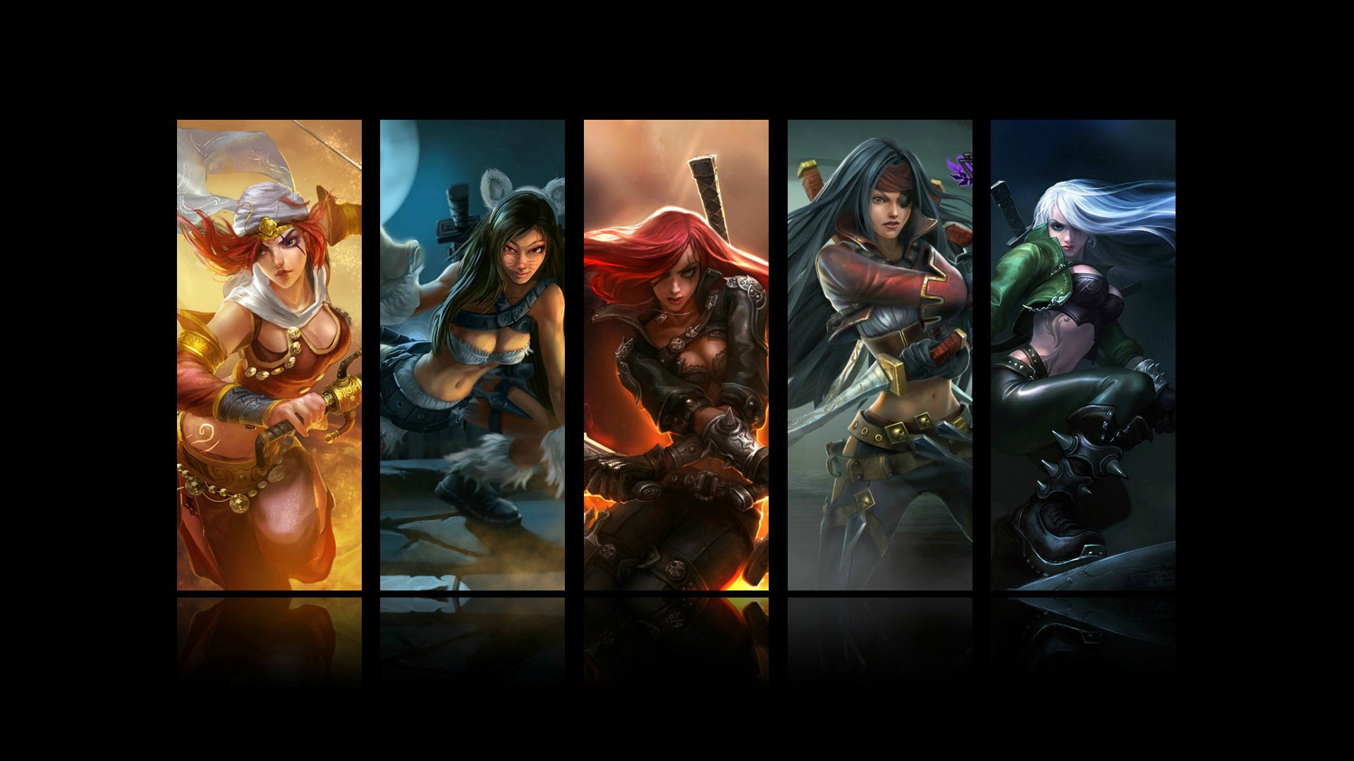 katarina all skin splash league of legends hd wallpaper lol girl    Katarina Cat Skin