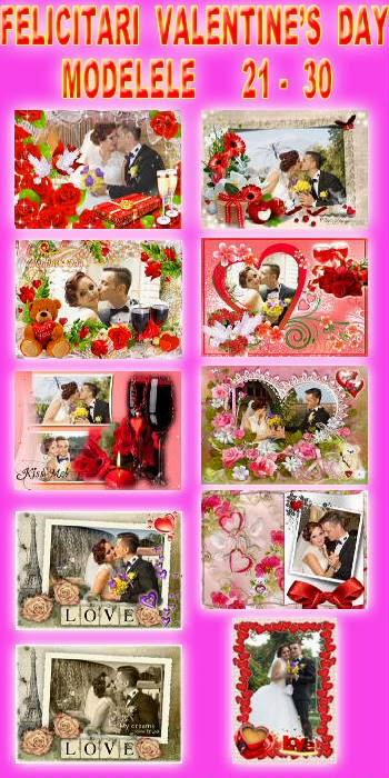 Felicitari Valentine's Day - Modele 21-30le