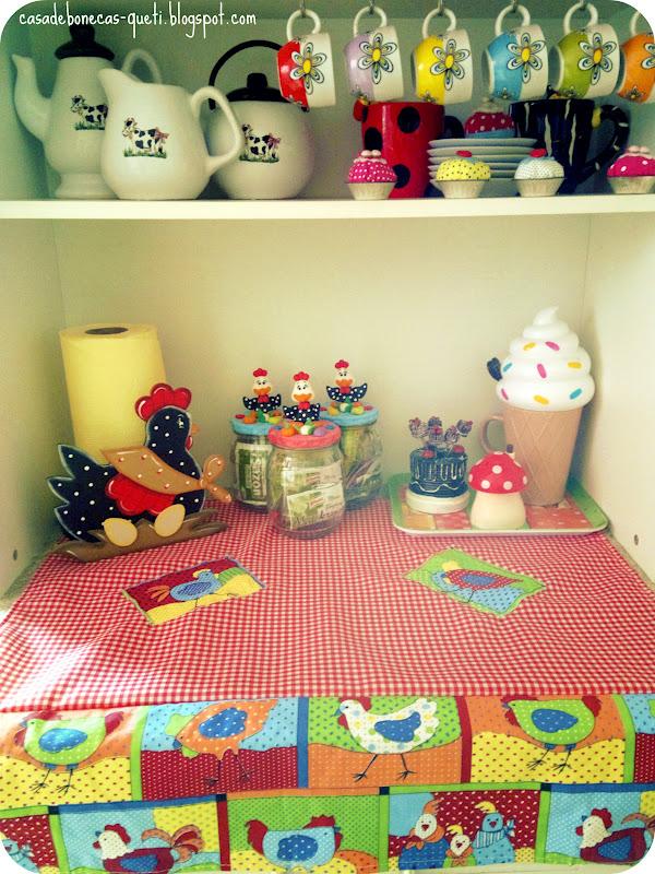 Casa de Bonecas Jogo de Cozinha Galinhas