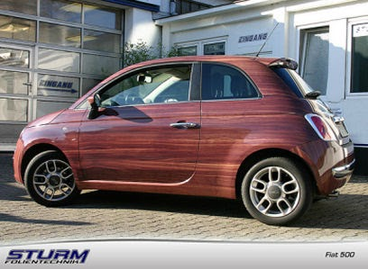 Super 5ooblog | FIAT 5oo: New Fiat 500 wood graphics RZ11